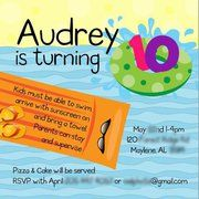 www.craftylilmomma.com - Girl swim party invitation