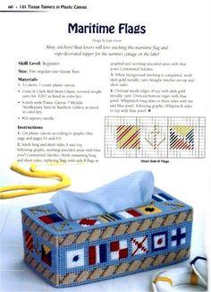 Maritime Flags Tissue Box Cover 1/2