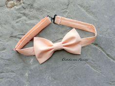 Mens bow tie - PEACH Mens bow tie