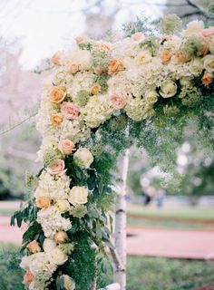A gorgeous garden ceremony: http://www.stylemepretty.com/georgia-weddings/2015/02/12/romantic-outdoor-garden-wedding/ | Photography: Cottrell - http://www.cottrellphotography.com/