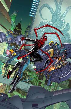 Comic Book Characters, Marvel Characters, Comic Character, Comic Books Art, Comic Art, Amazing Spiderman, Spiderman Art, Spiderman Sketches, Comics Anime