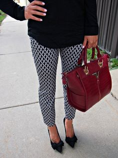 Black & White Patterned Pants for Fall.