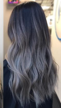 ideas hair color purple brown brows The most beautiful hair ideas, the most trend hairstyl Grey Ombre Hair, Brown Hair Balayage, Brown Blonde Hair, Hair Color Purple, Light Brown Hair, Hair Color Balayage, Cool Hair Color, Brown Hair Colors, Brunette Hair