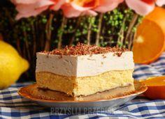 Ciasto ciekawe budyniowo – serkowe