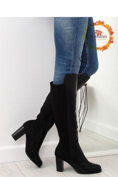 Fashion e-Shop Παπούτσια Μπότες μακριές με τακούνι - Μαύρο - 040- 42028b011de