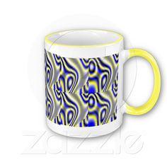 Yellow & Blue Designer Mug from Zazzle.com