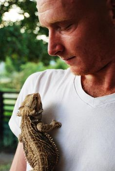 Paul Quessy and Nile Monitor Lizard  #animals #Desteni #equality