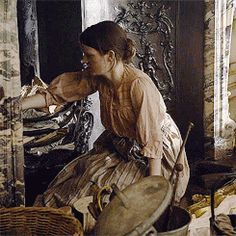 servant cleaning fireplace downtown abbey - Google Search