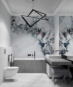 10 Contemporary Bathrooms Designs to Inspire you – Marble Bathroom Dreams Contemporary Bathroom Designs, Bathroom Design Luxury, Home Interior Design, Lobby Interior, Interior Decorating, Decorating Ideas, Dream Bathrooms, Small Bathroom, Luxury Bathrooms