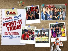 TO ALL STUDENTS OF AMA, ABE, ACLC AND ST. AUGUSTINE This is your chance to be featured on the official fan page of AMA Education System! Do you have an interesting story about your campus that you want to be featured? Join #PostItFriday and get your story featured on AMAES official fan page Follow these 3 simple steps: 1. Like AMA Education System Facebook page. 2. Take photos or video of your story 3. Submit the photos or video and details of your story to AMA Education System fan page via…