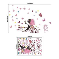New Butterfly Flower Fairy stickers for kids rooms decals DIY poster vinilos paredes Living Room Wall Sticker Home Decor-in Wall Stickers from Home & Garden on Aliexpress.com | Alibaba Group