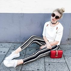 Get this look: http://lb.nu/look/8247597 More looks by Franziska Chappo: http://lb.nu/user/4100626-Franziska-C Items in this look: Topshop Top, Zara Pants, Adidas Sneakers, Valentino Crossbody Bag, Asos Choker, Primark Sunnies #casual #chic #street #blogger #fashion #mode #fashionblog #fashionblogger #munich