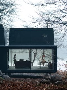 """wetheurban: """" DESIGN: The Vipp Shelter House goals. The Vipp Shelter is a minimalist prefab concept located in Copenhagen, designed by Danish design company Vipp. A 55 square meter steel object. Prefabricated Houses, Prefab Homes, Prefab Cottages, Prefab Cabins, Small Cottages, Container Architecture, Interior Architecture, Beautiful Architecture, Sustainable Architecture"""
