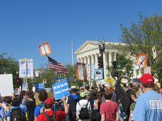 Supreme Ct Bldg across from Capitol Bldg.   Democracy Awakening Rally,March 4/17/2016