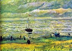 Vincent van Gogh. Seashore at Scheveningen. August 1882. Oil on cardboad. Private collection