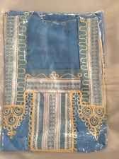 cotton kaftan/abeya/jilbab one size.full length Short Sleeved Blue Shade
