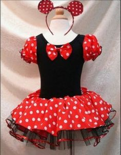 Minnie Mouse Tutu Party Dress Costume FREE SHIPPING!