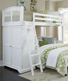 Love this White Walnut Street Twin Locker Loft Bed & Lower Bed on #zulily! #zulilyfinds