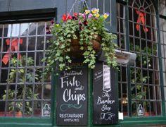 Fish & Chips in Shepherd Market. Mayfair, #London Mayfair London, London History, Fish And Chips, London Travel, Amalfi, Pond, Ireland, The Neighbourhood, Restaurant