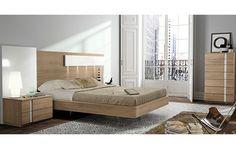 Dormitorio moderno nogal blanco