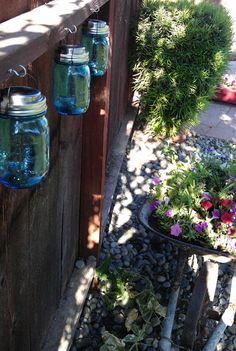 Solar power -                                                      Wire hangers for Solar Mason jars  6 DIY Wire Hanging Mason Jar Solar Lights by SuperfabulousStuff, $30.00