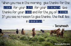 In Their Words: Tecumseh