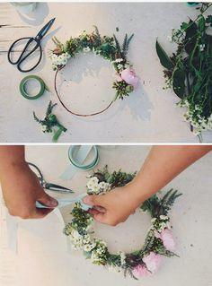 mywedding coronas de flores diy