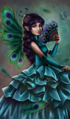 ...by anako-art Types Of Fairies, Elves And Fairies, Fairy Pictures, Angel Pictures, Fantasy Pictures, Fantasy Dragon, Fantasy Art, World Of Fantasy, Beautiful Fairies