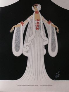 BOOK: ERTE' - Signed: Costumes & Sets for Der Rosenkovalier from the Ruby Lane shop Melange-Art Art Deco Illustration, Fashion Art, Fashion Design, Drawing Fashion, Geek Fashion, 1930s Fashion, French Fashion, Ladies Fashion, Erte Art