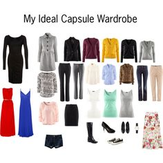 """""""My Ideal Capsule Wardrobe"""" by katestevens on Polyvore"""