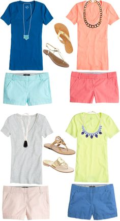 "Such fun colors for the summer!  Love the combos and the accessories.  As long as the shorts have at least a 5"" inseam.  I'm not in love with showing off my upper thighs.  At all."