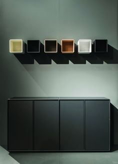 Dressoir met hangende elementen - ABC Quadrant - Designkasten - Kasten - Lundia