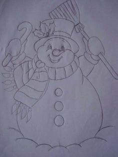 Navidad Christmas Rock, Christmas Colors, Christmas Snowman, Christmas Crafts, Painting Templates, Painting Patterns, Fabric Painting, Christmas Drawing, Christmas Paintings