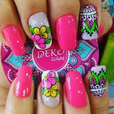 Resultado de imagen para diseño de uñas con mandalas Manicure Y Pedicure, Fun Nails, Nail Art Designs, Nail Polish, Spa, Amazing Nails, Beauty, Academia, San Diego