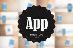 App Mock-Up vol. 1 ~~ App Mock-Ups vol.1    Need present your app or web on smartphone?   This set is exactly for you. With just one click you replace the screen and import your own design.  For more info check the instructions on last image.    ZIP includes:  13 .PSD files with smart…