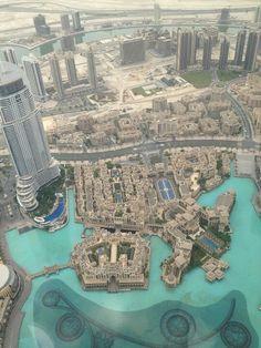 Dubai: The Address Hotel, The Palace Hotel, Dubai Mall on the left