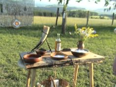 ALTAR FOR A HANDFASTING CEREMONY ( VIKING WEDDING) Me and my wife did a handfasting wedding I really enjoyed it