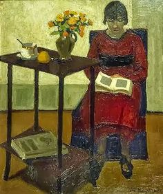 Reading and Art: Marius Borgeaud Reading Art, Woman Reading, Reading Nook, People Reading, Books To Read For Women, World Of Books, Book Reader, Female Art, Lady In Red