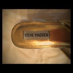 Gold Steve Madden Heels Small, never worn, just been in a drawer. Steve Madden Shoes Heels
