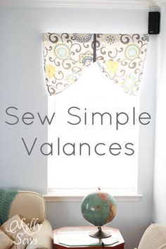 Been wanting a valance for my Sewing Room!!! Project Redecorate: Sew Curtains - Melly Sews
