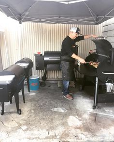 Our grill master in action! #RJAllen #traegergrills Reposted Via @rjalleninc