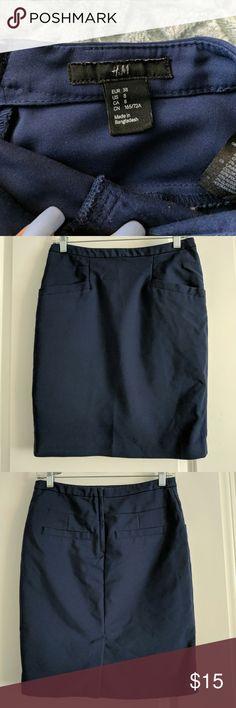 Pencil skirt Navy blue pencil skirt H&M Skirts Pencil