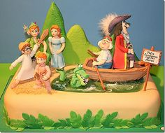 Off to Neverland with this adorable Peter Pan Cake.  | Disney Cakes | Disney Cake Ideas | Disney Cakes for Boys |