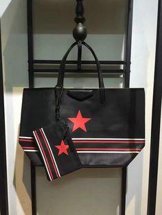 £149 New Givenchy Pandora Star Shopping Tote Bag in Black