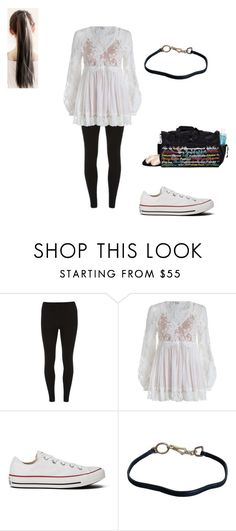 """""""Untitled #543"""" by pufferfishgal on Polyvore featuring Dorothy Perkins, Zimmermann, Converse and Prada"""
