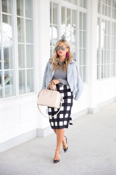 Gushing for Gingham (Suburban Faux-Pas) Classy Outfits, New Outfits, Fall Outfits, Office Outfits, Work Outfits, Summer Outfits, Business Fashion Professional, Professional Attire, Business Casual Dresses