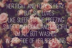 Cherry Wine by Hozier...love his voice and these few lyrics from this song