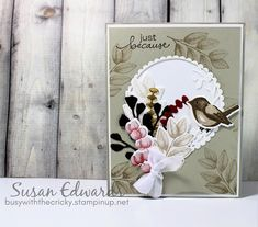 Feather Cards, Bird On Branch, Stamping Up Cards, Patriotic Decorations, Bird Cards, Cards For Friends, Close To My Heart, My Stamp, Creative Cards