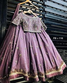 purple tapeta silk embroidered wedding lehenga - Fabric :Soft tapeta silk lehnga with heavy sequence + thread + stone work ( meter flair )Can can attachRuffle border pattern givensoft Tapeta silk blouse with thread & zari work ( unstitch purple tap Lehenga Choli Designs, Ghagra Choli, Lehnga Blouse, Choli Dress, Sharara, Indian Lehenga, Red Lehenga, Punjabi Lehenga, Indian Wedding Outfits