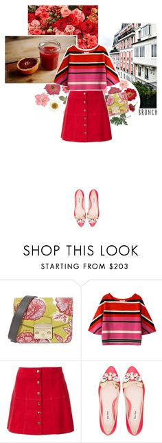 """""""Roses are red.."""" by lajudy ❤ liked on Polyvore featuring Furla, Plumpynuts, Ines de la Fressange and Miu Miu"""